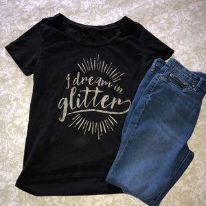 Tops - I Dream in Glitter High Low T-Shirt